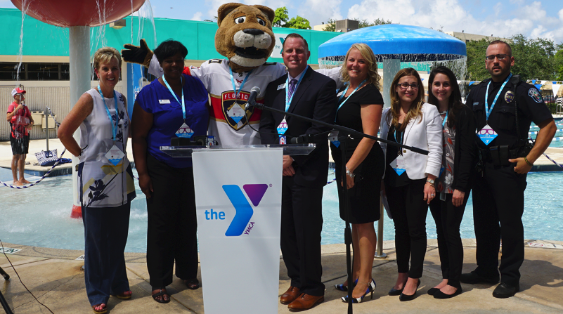 YMCA & PANTHERS COME TOGETHER FOR WATER SAFETY & DROWNING PREVENTION