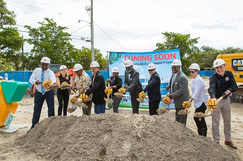 COMMUNITY CELEBRATES BEGINNING OF CONSTRUCTION ON NEW AND IMPROVED YMCA