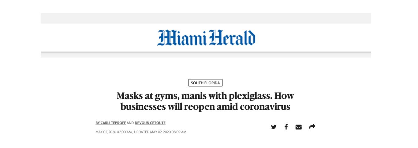 Masks At Gyms, Manis With Plexiglass. How Businesses Will Reopen Amid Coronavirus