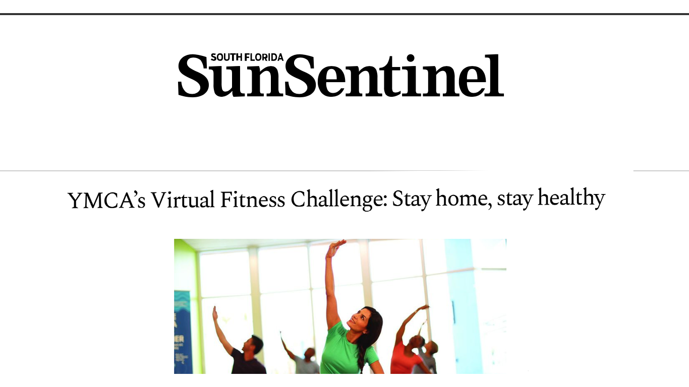 YMCA's Virtual Fitness Challenge: Stay Home, Stay Healthy