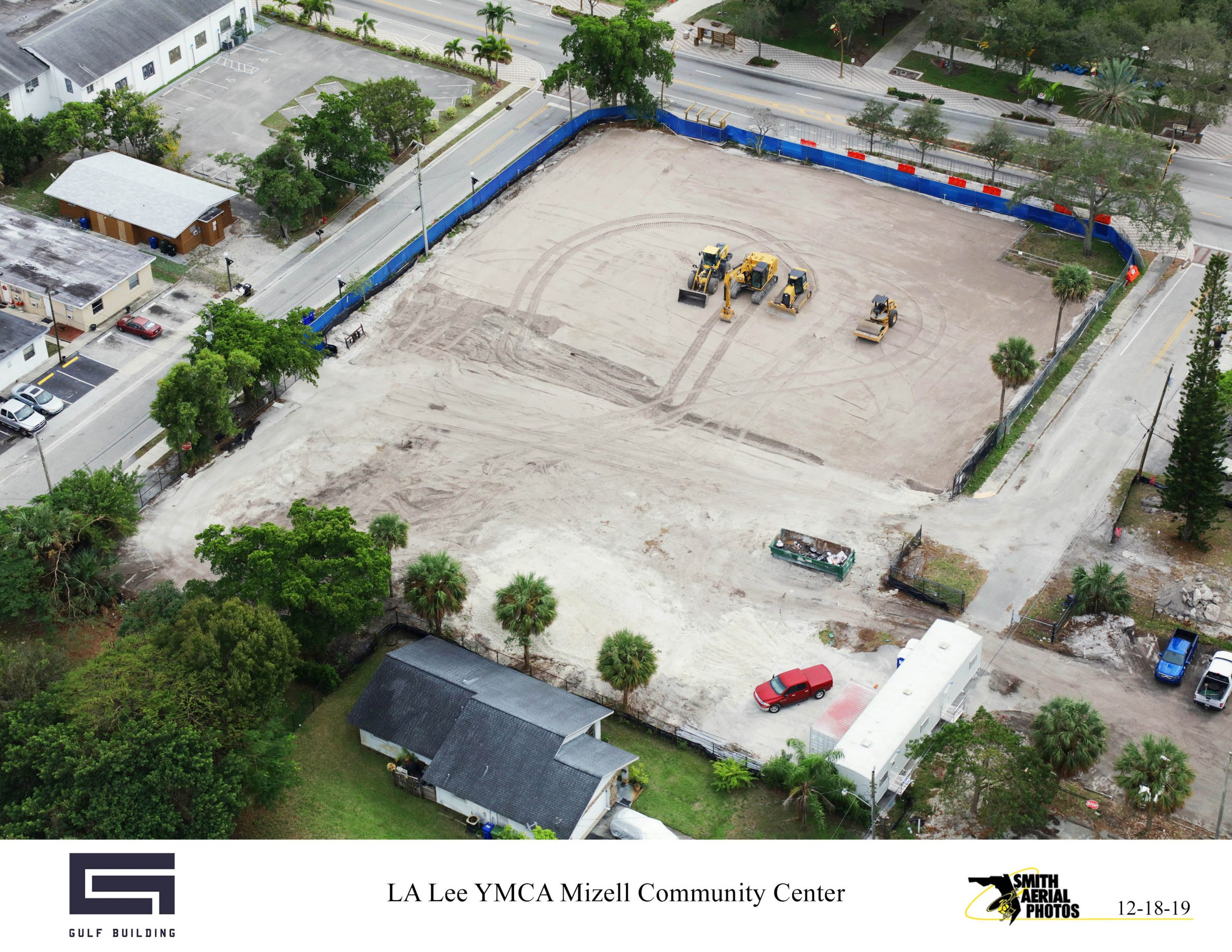 Construction Site Drone View December 15, 2019