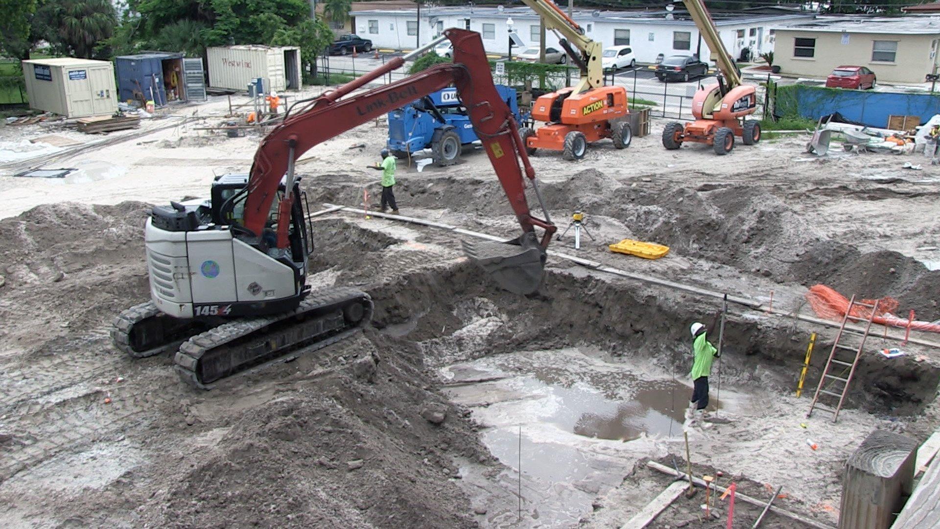 Swimming Pool Construction Start