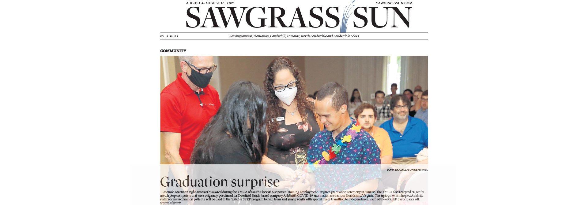 SAWGRASS SUN : Graduation Surprise  | AUGUST 4-AUGUST 10, 2021